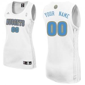 Maillot NBA Blanc Swingman Personnalisé Denver Nuggets Home Femme Adidas