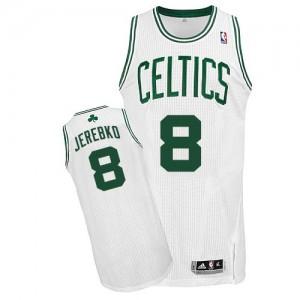 Maillot NBA Boston Celtics #8 Jonas Jerebko Blanc Adidas Authentic Home - Homme