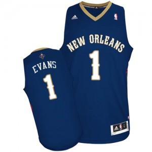 New Orleans Pelicans Tyreke Evans #1 Road Swingman Maillot d'équipe de NBA - Bleu marin pour Homme