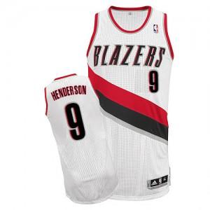 Portland Trail Blazers Gerald Henderson #9 Home Authentic Maillot d'équipe de NBA - Blanc pour Homme
