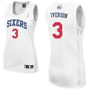 Maillot Authentic Philadelphia 76ers NBA Home Blanc - #3 Allen Iverson - Femme