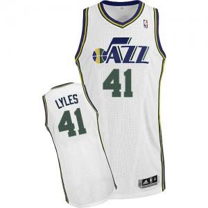 Utah Jazz #41 Adidas Home Blanc Authentic Maillot d'équipe de NBA sortie magasin - Trey Lyles pour Homme