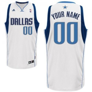 Maillot NBA Dallas Mavericks Personnalisé Swingman Blanc Adidas Home - Homme