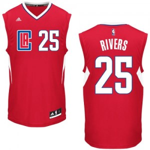 Maillot Authentic Los Angeles Clippers NBA Road Rouge - #25 Austin Rivers - Homme
