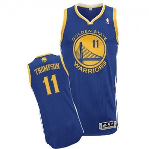 Golden State Warriors #11 Adidas Road Bleu royal Authentic Maillot d'équipe de NBA en ligne pas chers - Klay Thompson pour Enfants