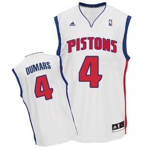 Maillot NBA Blanc Joe Dumars #4 Detroit Pistons Home Swingman Homme Adidas