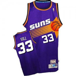 Maillot NBA Violet Grant Hill #33 Phoenix Suns Throwback Authentic Homme Adidas