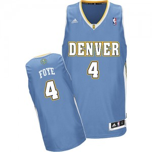 Maillot NBA Denver Nuggets #4 Randy Foye Bleu clair Adidas Swingman Road - Homme